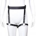 Leather Panties Leg Bondage - color: black