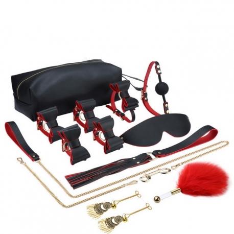Kit bondage SM 12 pièces avec sac de transport, luxe