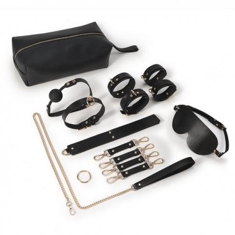 Pack bondage 14 pièces, série luxe avec sac de transport