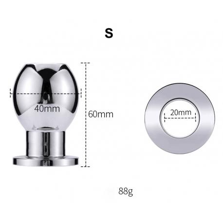 Plug dilatateur écarteur d'anus, spéculum en acier inoxydable