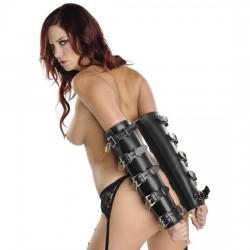 ArmBinder de Luxe - Gaine de bras en cuir cylindrique 10 cadenas