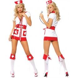 Costume d'infirmière sexy, croix rouge