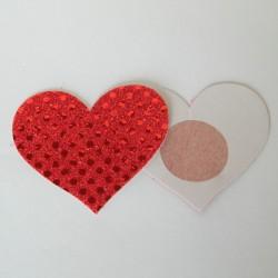 Cache-Téton - Nippies - Coeur simple
