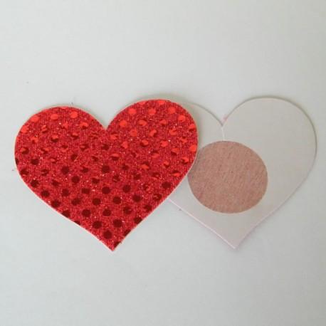 Cache-Téton - Nippies - Coeur en strass