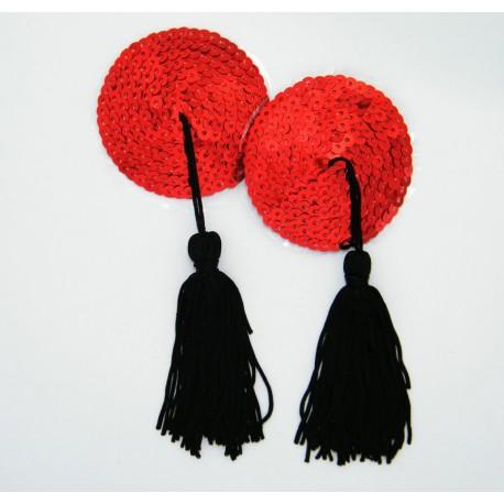 Cache-Téton - Nippies - Disque en strass avec pompon