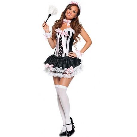 Corset Costume Femme de ménage sexy