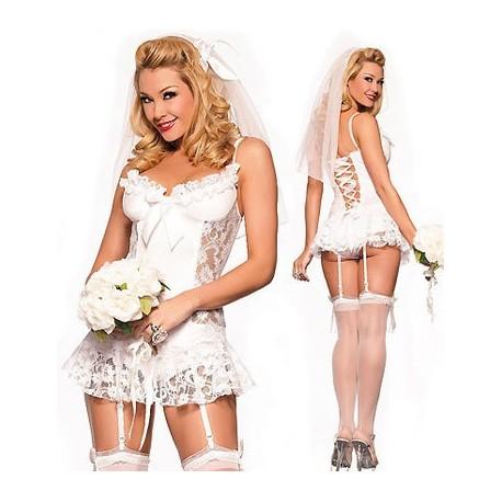 Guêpière de robe de mariée sexy