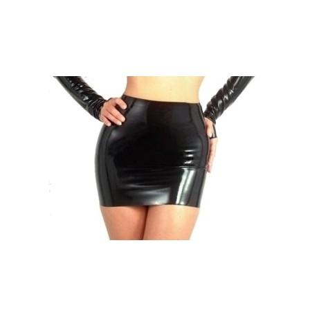 Mini jupe en vinyle noir