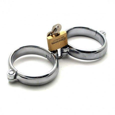 Menottes en métal de luxe avec cadenas