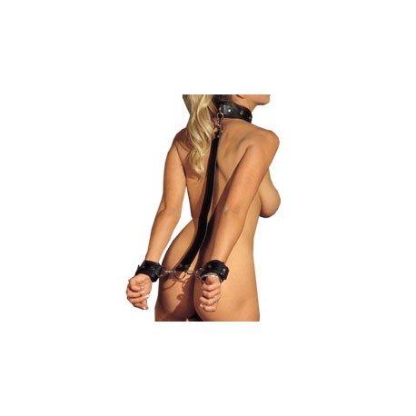 Barre de posture ajustable avec collier et menottes