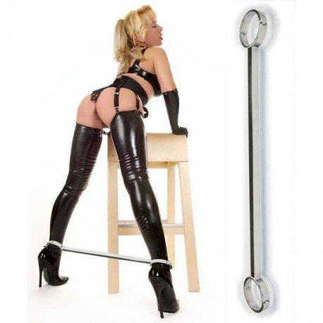 Barre d'écartement chevilles BDSM inox. Série Luxe