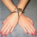 Menottes double ellipses avec cadenas